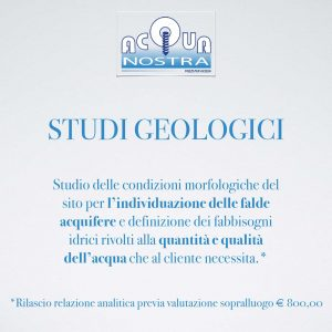 Studi Geologici - Acquanostra di Achenza Roberto